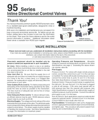 Thumb ross 95 series directional valves installation instructions ss095x 1496411315