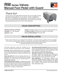Thumb ross rm4f series manual foot pedal with guard installation instructions ss107 1496422822