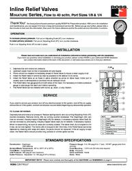 Thumb ross regulator inline relief valves miniature series ss r022 1518541203 1518541211