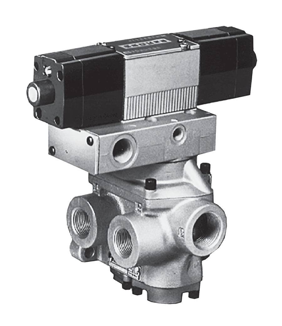 Detented 1-1//4 In-Out,1-1//2 Exhaust BSPP 110 VAC Ross Controls D2776B7003Z 27 Series 4//2 Single Direct Solenoid Controlled Valve